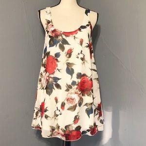 TOBI Red & Blue Rose Dress